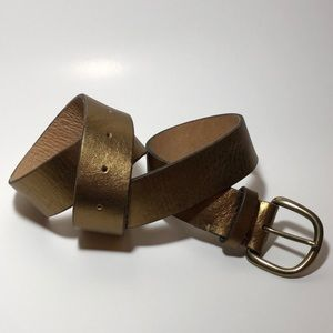 J.Crew Bronze Leather Belt